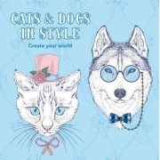 Cats and Dogs in Style - Colouring in Book by New Holland Publishers