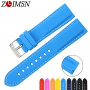 ZLIMSN Free Shipping Silicone Dive Sport Watch Bands Rubber Strap Quick Release Spring Bar 18 20 24 22mm Bracelets Replacement