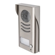 Panou video color de apel exterior DT591C-RH cu protector de ploaie si montare aplicata 1 buton de apel vedere pe timp de noapte IP45 compatibil cu posturile interioare pe 2 fire; camera CCD color