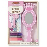 Melissa & Doug Decorate-Your-Own Wooden Crown Mirror Craft Kit