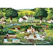 Buffalo Games Charles Wysocki: Country Gardens Jigsaw Bigjigs Puzzle (300 Large Piece)