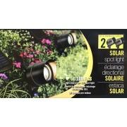 Reflection 2 Pack 50 Lumens Garden Solar Spot Light With Solar Panel