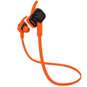 Jabees beating stereo Bluetooth Headset with IPX4 waterproof rating small light weight and comfortable for iPhone/Android/Tables/Smartphone (Black-Orange)