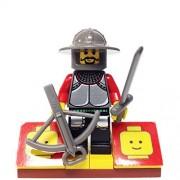 "Minifigure Packs: Lego Knights Kingdom Bundle ""(1) Guarded Treasury Knight"" ""(1) Figure Display Base"" ""(2) Figure Accessory (Sword & Crossbow)"""