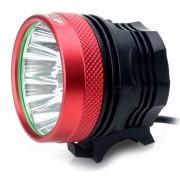 ZHISHUNJIA B10 10-LED 3-modo blanco frio bicicleta luz / faros-rojo