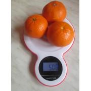 Digitálna bielo-červená kuchynská váha GP-KS045R