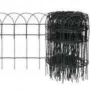 vidaXL Rozvinovací zahradní plot pro ohraničení trávníků 25 x 0,4 m