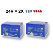 Akumulátory CSB EVH12150 24V 2X15Ah