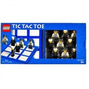 Lego Year 2006 Board Game Set #4499574 - TIC TAC TOE with Playing Board Baseplate Storage Case 5 Policeman Minifigure