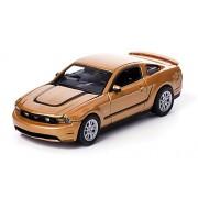 Ford Mustang GT, met.-oro, 2012, Modelo de Auto, modello completo, Greenlight 1:64