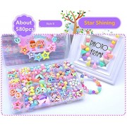 Bead Kit - 24 Grid Star Shinning Pattern Make Up Puzzle Handmade Jewelry Making Kits Jewelry Beads Toys for Children Bracelets, Necklace, Early Childhood Education Toys & Perfect Christmas Gift - Jewelry Beads Set Accessories Toys / Beading & Jewellery-Ma