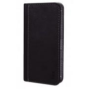 Калъф тефтер от естествена кожа BOOKLET за Samsung Fame 6810 size M черен