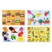 Beginning Skills Floor Puzzle Set (1 Set of Four 12-Piece Puzzles) + FREE Melissa & Doug Scratch Art
