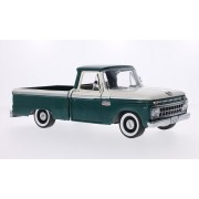 Ford F-100 aduanas cabina Pickup, blanco/verde oscuro, 1965, Modelo de Auto, modello completo, sol estrella 1:18