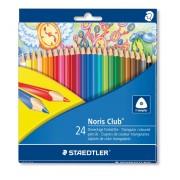 Creioane colorate triunghiulare 24 culori/set STAEDTLER