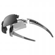 Tifosi Pro Escalate HS Interchangeable Sunglasses - Silver/Fototec Light Night