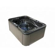 Whirlpool Outdoor Whirlpool Hot Tub Spa Lyon schwarz mit 27 Massage Düsen + Heizung + O...
