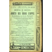 Journal, Ou Recueil Des Arrêts Des Cours D'appel De Bordeaux Et De Poitiers. 8ème Cahier
