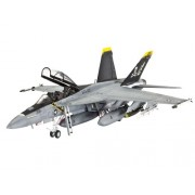 Revell 04864 - F/A-18F Super Hornet Twin Seater Kit di Modello in Plastica, Scala 1:72