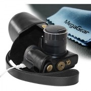 MegaGear Ever Ready Protective Leather Camera Case Bag for Canon Sx510 HS Canon Powershot SX520 HS (Black)