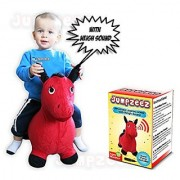 Riding Horse For Kids Inflatable Jumping Horse With Real Neigh Sounds - Hopping Horse Ride-On Toy For Toddlers - Strong