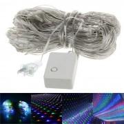 6W 200-LED Christmas Party Wedding Decoration RGB Net Light Fairy Lights (US Plug / 110V)