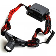 Lanterna Frontala Zoom LED CREEE Acumulator 18650 IPX8 3 Faze