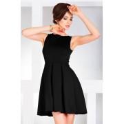 S-a-F SHIM.cz Dámské společenské a plesové šaty se skládanou sukní černé - S, černá