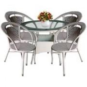 Baštenska Garnitura Wicker Ratan Savoia60 - 4 Fotelje + Sto