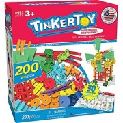 TINKERTOY 30 Model Super Building Set - 200 Pieces - For Ages 3+ Preschool Educational Toy