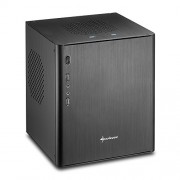 Sharkoon CA-I - Case in alluminio mini-tower (Mini-ITX, 2 USB 3.0, 2 USB 2.0), colore: Nero