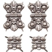 Hinges by Tim Holtz Idea-ology 4 Hinges and 16 Fasteners Antique Nickel Finish TH93075