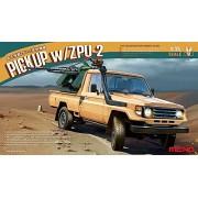 Meng Model 1:35 -Modellino Auto Toyota Hilux Pick Up Truck W/ Zu23-2