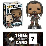 Baze Malbus: Funko POP! x Star Wars Rogue One Vinyl Bobble-Head Figure w/ Stand + 1 FREE Official Star Wars Trading Card Bundle (104562)
