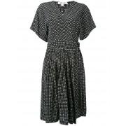 Diane Von Furstenberg платье с запахом и узором в горох Diane Von Furstenberg