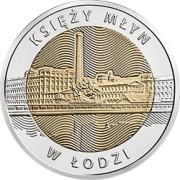5 zł 2016 Księży Młyn w Łodzi - Odkryj Polskę