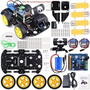 kuman Professional WIFI Smart Robot Car kit for Raspberry Pi RC Remote Control Robotics Electronic Toys Game Controlled by PC Android ISO App with 8G SD Card (Not Included Raspberry Pi )