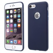 Effen blauw gekleurde silicone hoesje iPhone 7 Blauwe cover Blue case