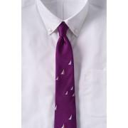 ランズエンド LANDS' END メンズ・シルク・レップ・セイルボート・タイ/ネクタイ(ジュエルプラム)