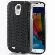 Hyperion Samsung Galaxy S4 Extended Battery HoneyComb Matte TPU Case / Cover **Hyperion Retail Packaging** (Black)