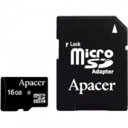 Apacer Мicro-Secure Digital HC Class 4, 16GB (with SD adapter) - AP16GMCSH4-R