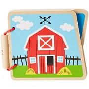 Hape, Libricino in legno per bambini, motivo: Fattoria