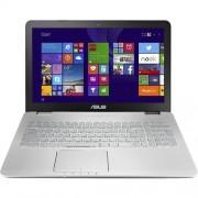 """Notebook Asus N751JK, 17.3"""" Full HD, Intel Core i7-4710HQ, GTX850M-4GB, RAM 8GB, HDD 1TB, Free Dos, Argintiu"""