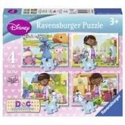 Puzzle Doctorita Plusica, 4 Buc In Cutie, 12/16/20/24 Piese