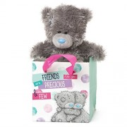 Me to You SG01W4069 5-Inch Tall Tatty Teddy Sitting in a Friends Like You Are Precious and Few Gift Bag Plush Toy by Me To You