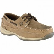 Rockport Men's 3-Eye Steel Toe Boat Shoe - Brown, Size 14, Model RK6736