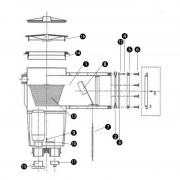 Bain et Confort N°16 - Couvercle pour skimmer modèle POOL'S