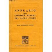 Annuario Della Universita Cattolica Del Sacro Cuore, Anni 1922 A 1992
