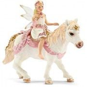 Schleich Delicate Lily Elf Riding A Pony Toy Figure