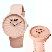 Crayo Cr1509 Pleats Unisex Watch